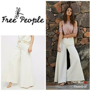 Free people run through the moss wide leg jeans
